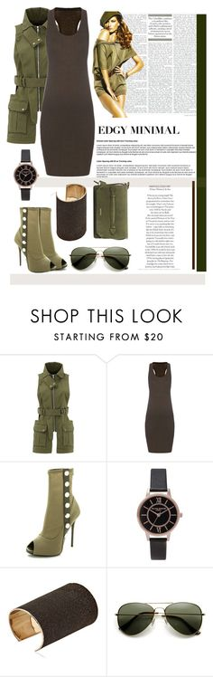 """""""General green"""" by nino-d-f ❤ liked on Polyvore featuring Marissa Webb, Haider Ackermann, Giuseppe Zanotti, Topshop and Jení"""