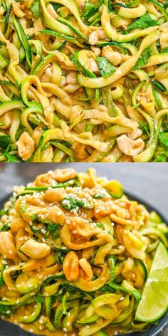 These 15-minute Cashew Zucchini Noodles are so flavorful! Cooking in a sauce that's a complex mix of salty, nutty, and umami, with just a touch of heat, it's utterly addictive.