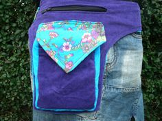 Bekijk dit items in mijn Etsy shop https://www.etsy.com/listing/254737934/blue-purple-hip-bag-with-lots-of-space