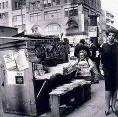 Woman on the Edge, New York, 1964. Henry Talbot photographer.