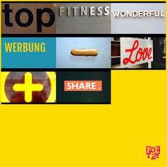 """Top #Fitness, wonderful #Werbung - #Love and share.""  #urbanpoetry #berlin #wien #zürich"