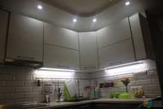 Кухонный фартук, плитка под кирпичик