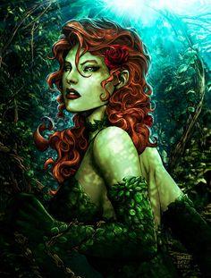 Poison Ivy Comic, Poison Ivy Batman, Dc Poison Ivy, Poison Ivy Dc Comics, Poison Ivy Character, Poison Ivy Villain, Super Power Girl, Girl Power, Jim Lee Art