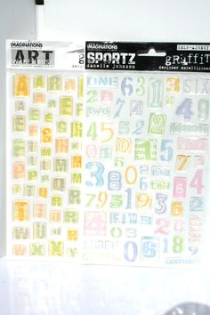 Clear 3D Alphabet Number Stickers, Creative Imagination, Designer Embellishments, Letters, Stickers, 3d Scrapbook, Baby Stickers, Girl, by MyCreativePossession on Etsy