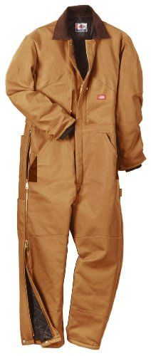 Dickies Men's Insulated Coverall, Brown Duck, Medium-Regular
