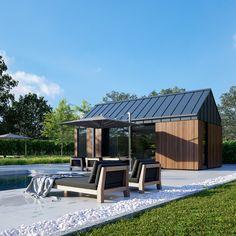 UK Garden Pods & Outdoor Office Building ontworpen door Pod Space