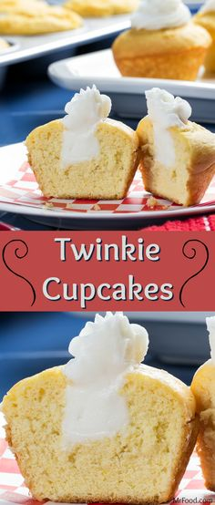 If you've walked down the snack aisle of any grocery store over the last 85+ years, you've probably seen Twinkies. (Hey, you've probably even tried them too!) We've recreated this favorite American snack, but with a twist! Our Twinkie Cupcakes feature light, yellow cake, filled with a delicious filling and frosting combo. You're going to love them!