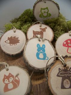 animal ornaments to make | Woodland Animal Gift Tags (or ornaments) - ... | Woodland Wildlife Cr ...