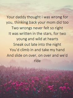 Kip Moore- Young Love! Love, Love, Love this song! There was really no way of knowing, but look at us, baby, we're still going! Could be our new song!