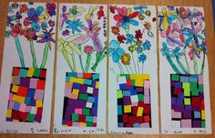 fun alternative to collage flowers. Apex Elementary Art
