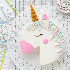 Unicorn Themed Birthday Party, Birthday Cake, Birthday Celebration, Birthday Parties, Cake Shapes, Girl Cakes, Creative Cakes, Party Cakes, How To Make Cake