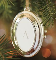 Silver-Plated Oval Locket Ornament ($19).