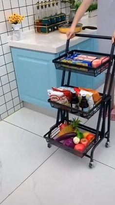 Kitchen Organization Pantry, Diy Kitchen Storage, Home Organization Hacks, Kitchen Decor, Kitchen Organization For Small Spaces, Organizing, Kitchen Ideas, Cool Kitchen Gadgets, Home Gadgets