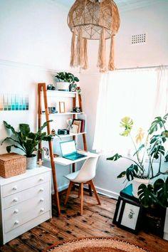 Room Ideas Bedroom, Small Room Bedroom, Small Apartment Bedrooms, Bedroom Ideas For Small Rooms, Cozy Bedroom, Dorm Room, Boho Bedroom Decor, Bedroom Inspo, Office In Bedroom Ideas