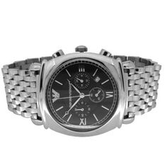 089e22320b8e Emporio Armani AR0299 Stainless Black Chronograph Mens Watch UK on sale  armaniemporiowatches.co.uk. Professional Emporio Armani Watches