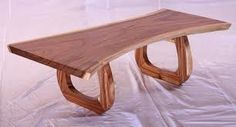 Natural Wood Solid Coffee Table