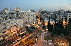 Dusk At Jerusalem Downtown Editorial Image - Image: 13937495