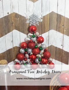 Ornament Tree Holiday Decor :http://michellejdesigns.com/ornament-tree-holiday-decor/