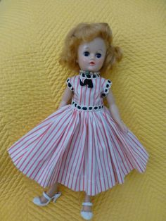 Vintage Vogue Jill Doll in 1957 Tagged Dress 7402 Panties and White Shoes | eBay