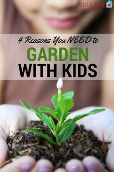 4 Reasons You NEED to garden with your kids. Gardening is rewarding and educational, but it has even more benefits than you probably realize!   gardening with kids   kids gardening tips   fun gardening ideas for kids   family garden activities    Joyful A