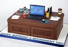 computer desk cake
