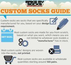 Custom Socks How To Guide | Make My Socks - see examples of custom socks made for clients at http://www.makemysocks.com/blog/custom-orders/