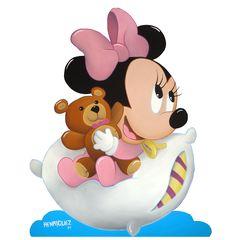 Minnie Bebe Jpg Pinata Mouse At Birthday Baby Mickey, Mickey E Minnie Mouse, Minnie Png, Disney Mickey, Disney Babys, Disney Girls, Dibujos Baby Shower, Baby Room Paintings, Baby Disney Characters