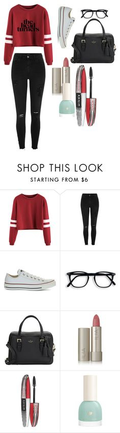 """""""Untitled #24"""" by vanillastar26 on Polyvore featuring River Island, Converse, Kate Spade, Ilia and L'Oréal Paris"""