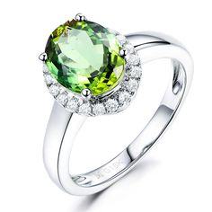 Elegant 2.01ct Natural Green Tourmaline in 18K Gold Ring by CHARMES Jewellery Check more at https://www.charmes.in/product/2-01ct-natural-green-tourmaline-in-18k-gold-ring/