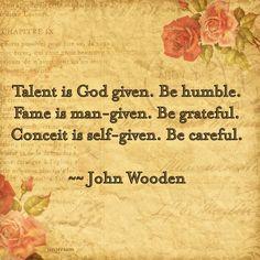 The wisdom of John Wooden