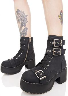 a5393331042b1 Current Mood Buckle Buddy Boots Gothic Boots