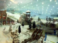 Dubai indoor ski hill. We love the Starbucks next to the ski slopes, we need a Starbucks in Bansko.
