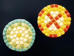 Mosaic Glass & Sand Cork Coasters   Library Arts