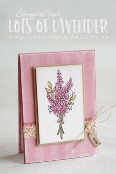 Stampin' Up! Lots of Lavender | Sale-A-Bration 2018 | Teneale Williams