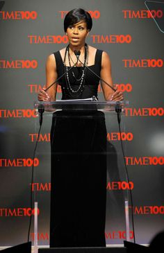Wearing Michael Kors at the Time 100 gala in 2009.