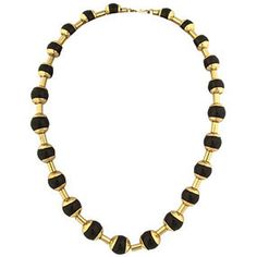 The Met Store -  Capped Onyx Necklace