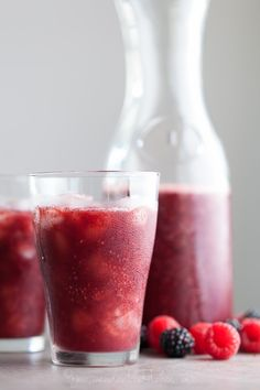 This berry and rosehip flavored agua fresca makes a terrific thirst quencher on a hot day.