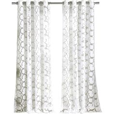 Let this sheer, trellis-print curtain frame a picture window, or drape it in a doorway for laid-back elegance.  Product: Set of ...