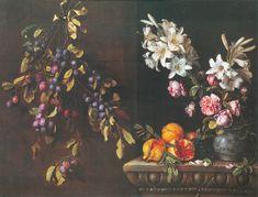 Pierre Dupuis, Nature morte à la branche de prunier suspendue, grenades et vase de lys, 1663