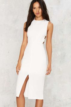 Buckle Down Cutout Dress - Clothes | Best Sellers | Going Out | Midi + Maxi | LWD | Date With the Night | All Party