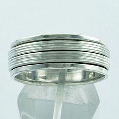 LOVELY DESIGN 925 HANDMADE STERLING SILVER SPINNER RING  #SilvexImagesIndiaPvtLtd #Spinner