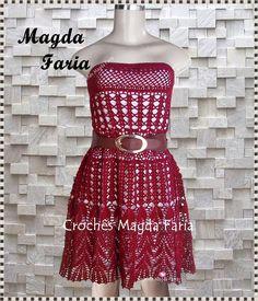 Crochê  Magda Faria: Vestido  Mariá