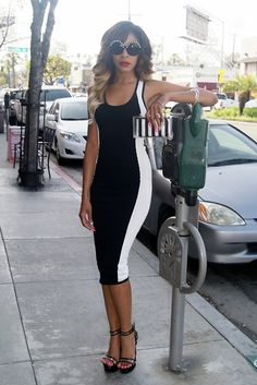 2bstores Midi Dress, 2bstores Lucite Platforms, Nasty Gal Audrey Glasses, Zara Lucite Bag
