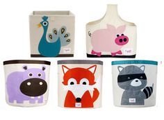 These animal felt baskets are great for kids rooms! Make your own using craft felt or add the design to your existing basket!