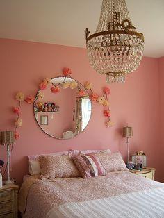 """Another chandelier; """"headboard"""" ideas"""
