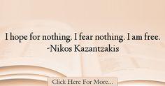 Nikos Kazantzakis Quotes About Hope - 36014