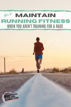 How to maintain running fitness for both health purposes and maintaining running base mileage when you arent training for a race. Endurance Training, Race Training, Strength Training Workouts, Running Workouts, Running Training, Fun Workouts, Running Humor, Training Equipment, Triathlon Training