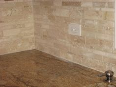 X Beveled Edge Honed And Filled Travertine Backsplash