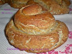Rye bread. Rulitos de centeno integral