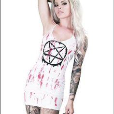 Rockin' Bones Bloody Pentagram Dress